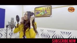 Kinjal dave in studio for recording chote raja song