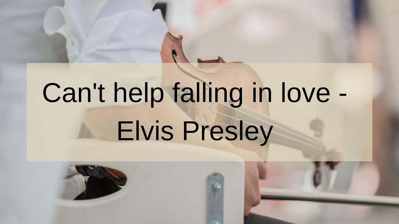 Can't help falling in love   Elvis Presley   Trio