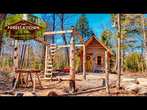 Download Youtube: The Forest Kitchen at the Off Grid Log Cabin Build, Ep. 1: Timber Frame