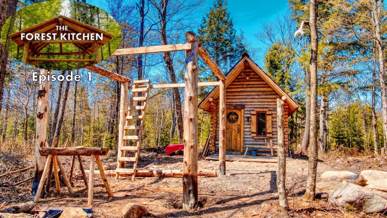 Timber Frame The Forest Kitchen Off Grid Log Cabin