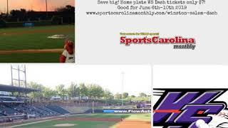 Save big! Home plate WS Dash tickets only $7! Good for June 6th-10th 2019 www.sportscarolinamonthly…