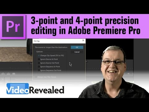 3-point and 4-point Precision Editing in Adobe Premiere Pro