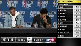 Malcolm Brogdon & George Hill Press Conference | Eastern Conference Finals Game 3