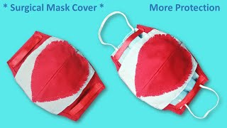 How to Make Surgical Face Mask Cover Surgical Face Mask Cover Valentine Day Special Fast and Easy