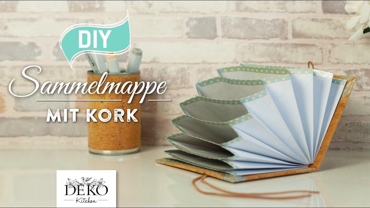 Diy h bsche sammelmappe mit kork einfach selber machen for Deko kitchen herbstdeko