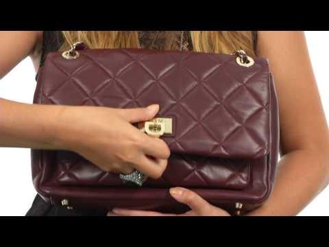 DKNY Quilted Nappa Large Flap Pocket Shoulder Bag  SKU:8442725