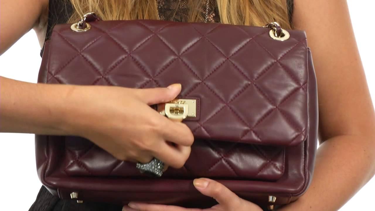 DKNY Quilted Nappa Large Flap Pocket Shoulder Bag SKU:8442725 ... : dkny quilted shoulder bag - Adamdwight.com