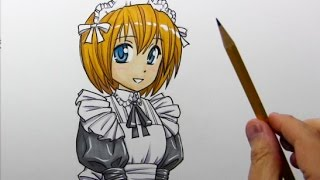 Drawing Time Lapse: Manga-Style Maid