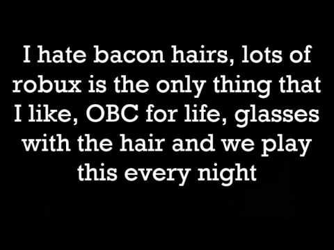 Bacon hairs lyric video