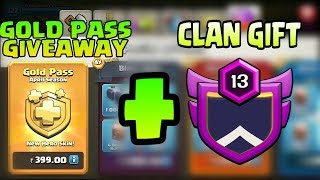 GOLD PASS GIVEAWAY + CLAN GIFT | MEGA GIVEAWAY | CLASH OF CLANS |