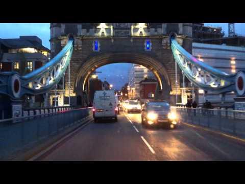 London streets (258.) - Emirates Greenwich Peninsula - Blackwall tunnel - Tower Bridge - Lambeth