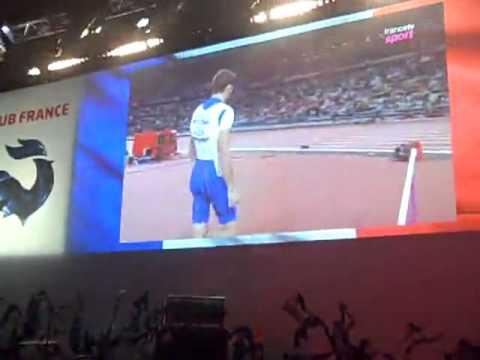 Ambiance au club France lorsque Renaud Lavillenie devient champion olympique