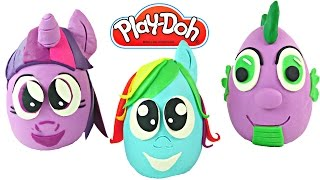 Making My Little Pony Surprise Toy Eggs Using Play Doh - How To Create Playdough Egg Surprises