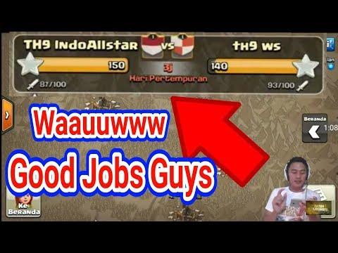Waaoouuww Good Jobs Guys, Menang Cepat Nih eddiiaaaannn TH 9 IndoAllstar   Clasher Indonesia