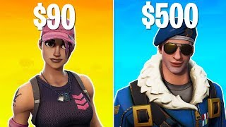 TOP 5 MOST EXPENSIVE SKINS IN FORTNITE! THESE SKINS COST SO MUCH MONEY!