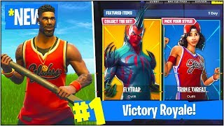 "NEW ""JUMPSHOT"" & ""TRIPLE THREAT"" SKIN UPDATE! (Fortnite Battle Royale SKINS UPDATE)"