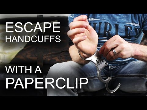 How To Escape Professional Handcuffs - With A Paperclip