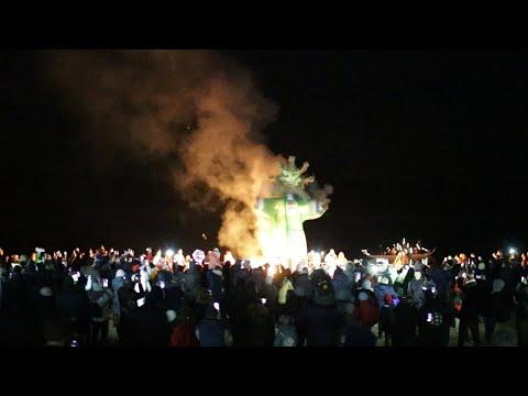 У житомирському гідропарку «Залицяння до весни» завершили спаленням опудала - Житомир.info