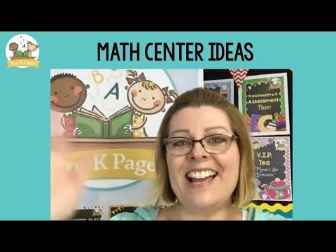 Math Center Ideas For Preschool
