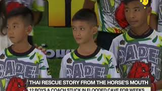 Thai cave footballers and coach share their 'miracle' rescue