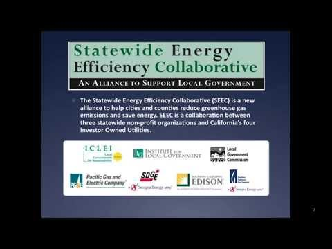 SEEC Webinar #1: Funding Resources for Energy Programs