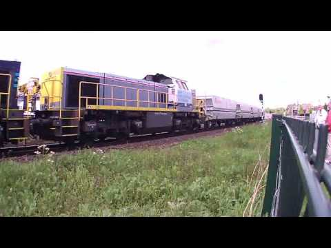 New Lineas Locomotive Leads  Lime Train at Venlo NL 13.5.2017 First Catch!!!!!