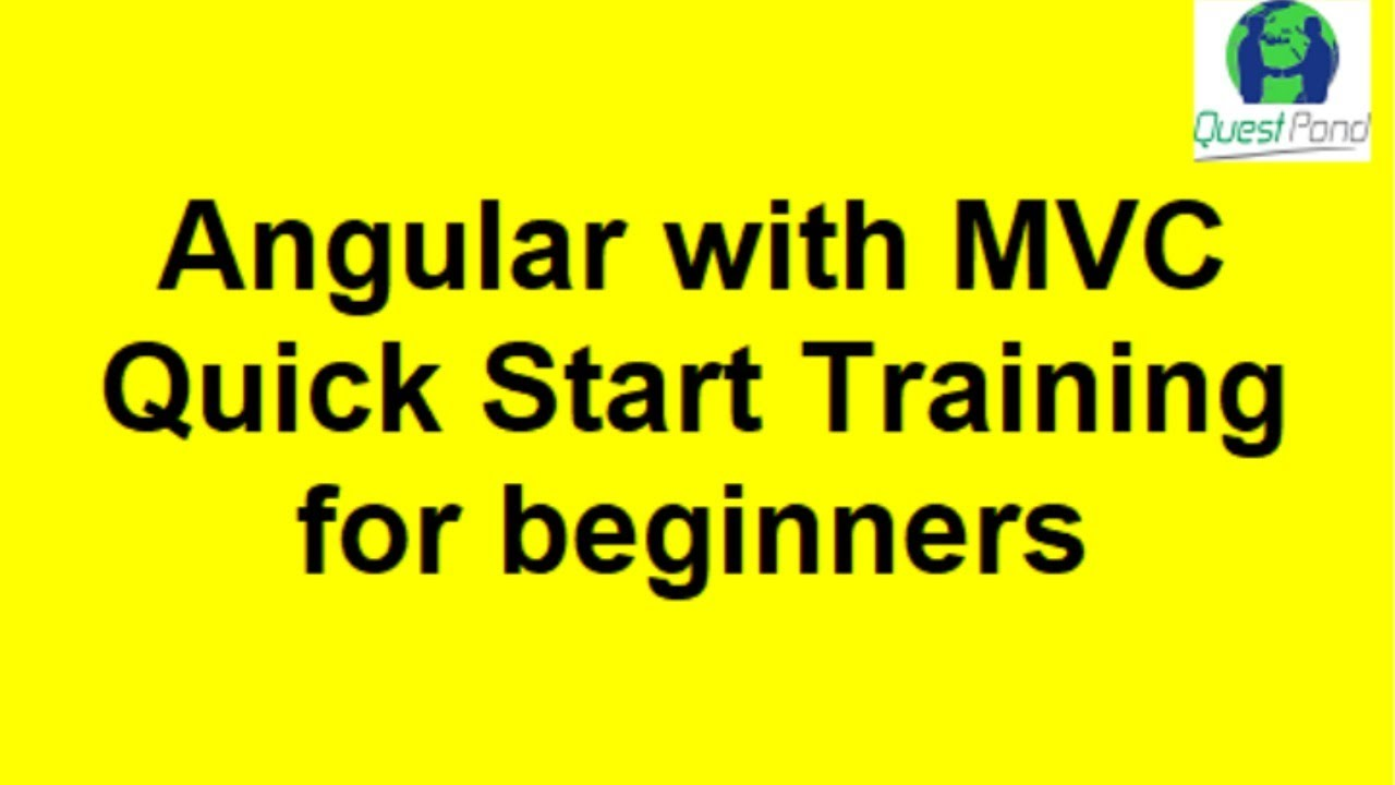 Angular with MVC Quick Start for beginners Day 1