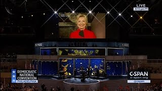 Hillary Clinton shatters glass & gives remarks to Democratic National Convention (C-SPAN)