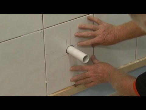 How To Cut Tiles Around Pipes You