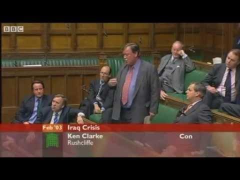 Kenneth Clarke Conservative MP - Iraq War debate - Wednesday 26 February 2003