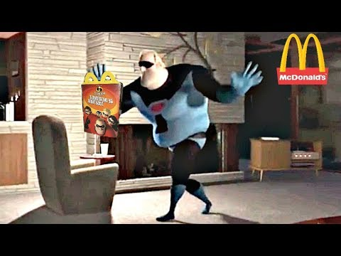 Mr. Incredible Do A Little Dance Excited For Mcdonalds Incredibles 2 Happy Meal Movie Toys