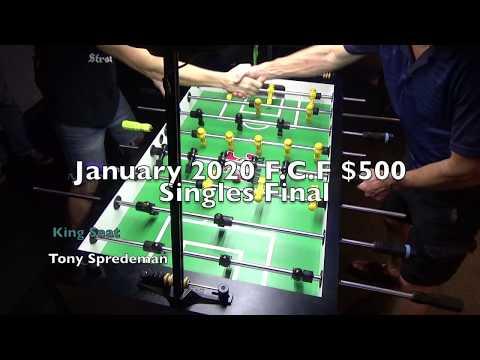 January F.C.F. $500 Singles Final: Tony Spredeman vs. Bill Parry