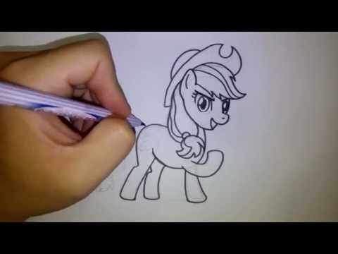 สอนวาดรูป การ์ตูน แอปเปิ้ลแจ็ค จาก My Little Pony
