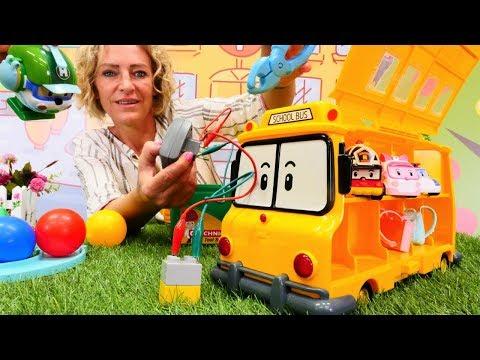 Robocar Polinin okul servisini tamir ediyoruz! Araba oyunları.