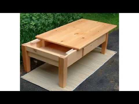 create your own diy coffee table with sliding top