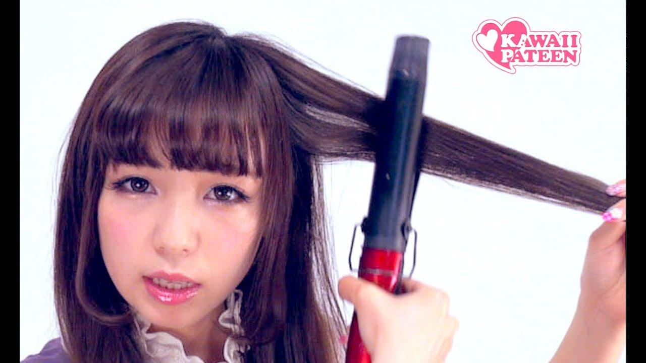 Kawaii Curly Fluffy Hairstyle Tutorial How To By Japanese Fashion Model 皆方由衣ロリータヘアアレンジ