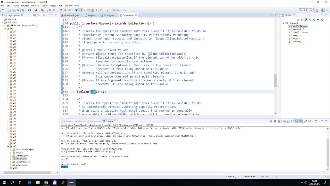 [Java #48] Queue és Deque implementációk - YouTube