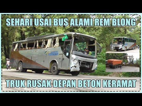 Sehari Usai Rem Blong, Bus Viral Kembali Berjalan Dengan Kondisi Memprihatinkan Di Sitinjau Lauik
