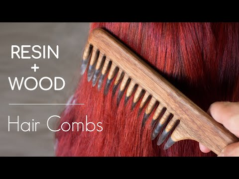 EPOXY + WOOD Live Edge Hair Comb | DIY Huntress