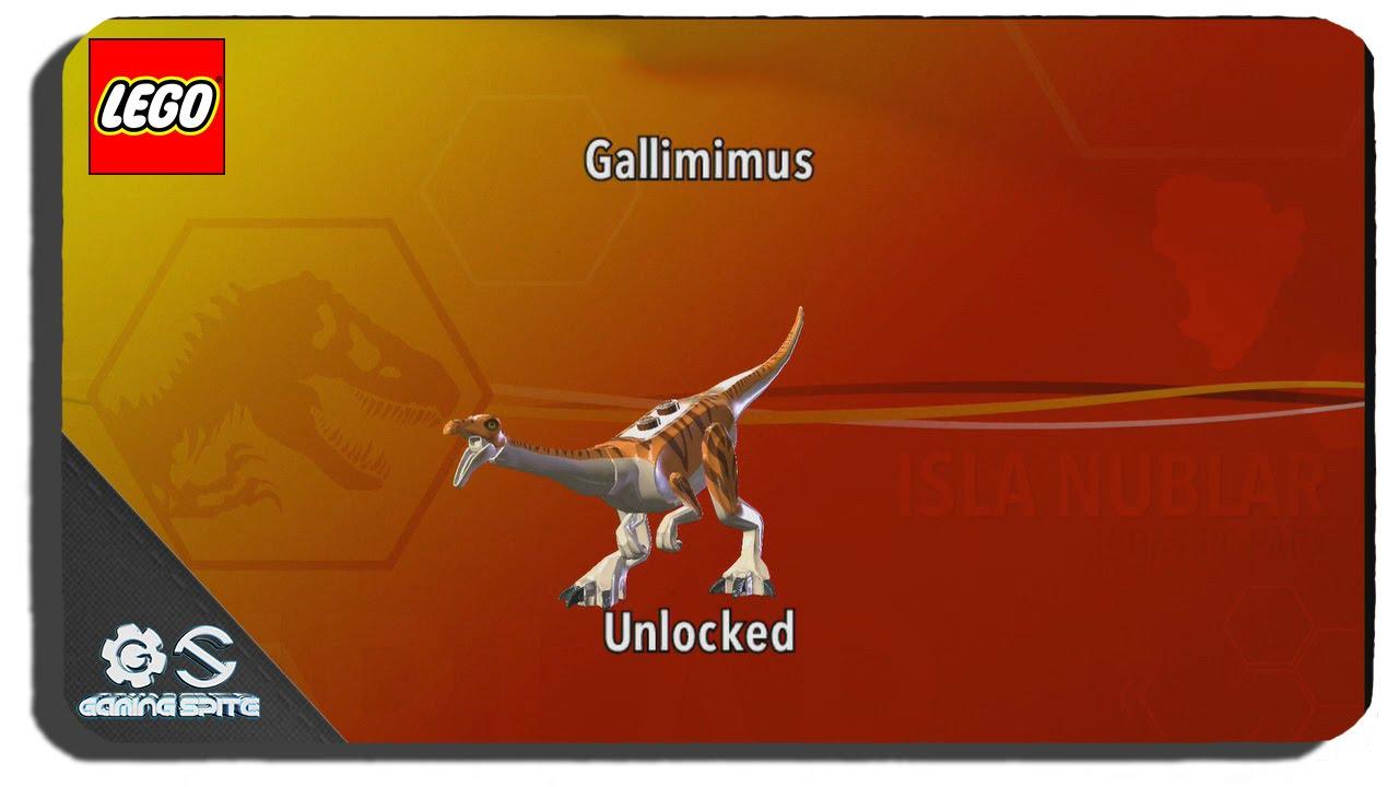 lego jurassic world how to unlock gallimimus dinosaur