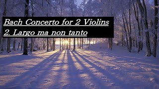 Bach Concerto for 2 Violins 2. Largo ma non tanto バッハ 2つのヴァイオリンのための協奏曲 2. ラルゴ・マ・ノン・タント