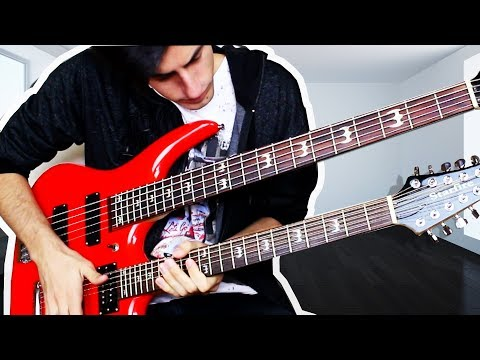 Download Youtube: 17 STRINGS Double Neck Bass Guitar Solo