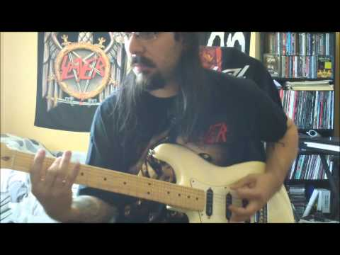 """SLAYER -  full """"Divine Intervention"""" Album on guitar ! with solos ! in HD"""