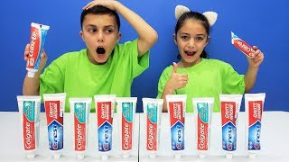 Don't Choose the Wrong Toothpaste Slime Challenge!