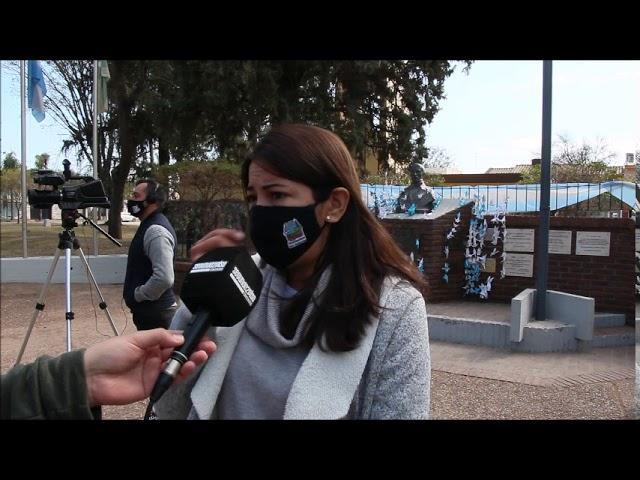 Romina Lopez: Vamos a trabajar en la plaza central y en la entrada del Parque