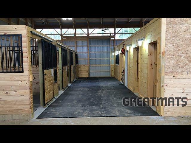 Rubber Equine Horse Stall Mats 12x14 Ft