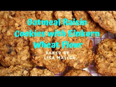oatmeal-raisin-cookies-with-einkorn-wheat-flour