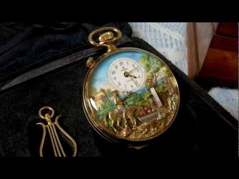 Reuge Musical animated pocket watch automaton