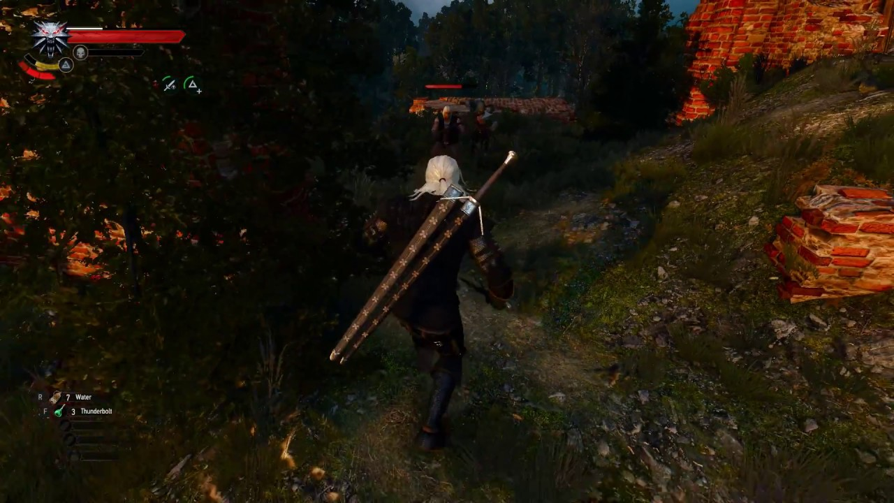 The Witcher 3 - Ghost Mode mod: Flawless bandit fight (B&BB)