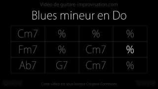 Blues en Do mineur rapide (190 bpm) : Backing track  (Mr PC)